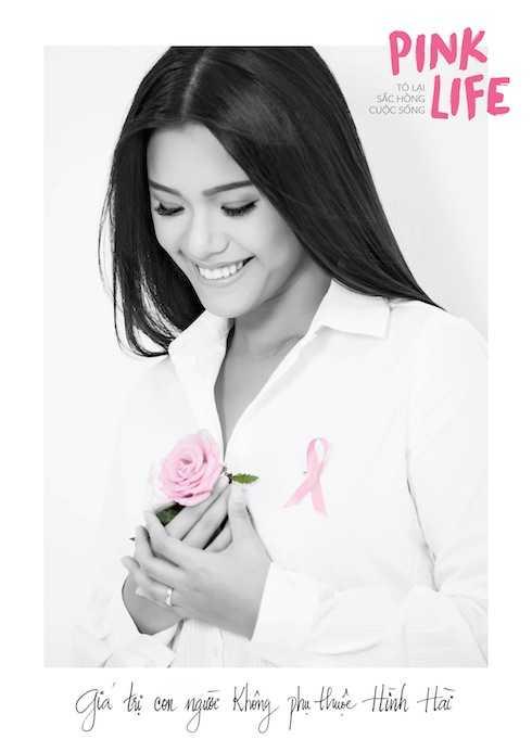 'Giá trị của con người không phụ thuộc vào hình hài', đó là thông điệp   mà F Flower Living cùng với Mạng lưới ung thư vú Việt Nam muốn truyền   tải đến cộng đồng.