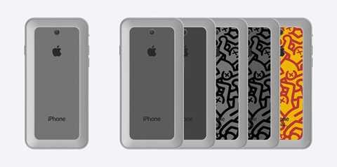 Mặt sau iPhone 7 được lên ý tưởng với họa tiết hoa văn. Một số tin đồn nói rằng, smartphone đời mới của Apple có thể dùng bộ xử lý của Intel. Máy tập trung nâng cấp khả năng chụp ảnh dù không tăng