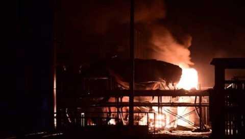 Hiện trường vụ nổ nhà máy hóa chất ở Sơn Đông, Trung Quốc hồi tháng 8