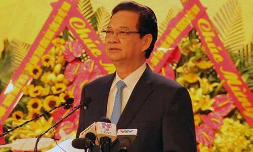 Thủ tướng Nguyễn Tấn Dũng phát biểu chỉ đạo tại Đại hội đại biểu Đảng bộ TP Hải Phòng khóa X.