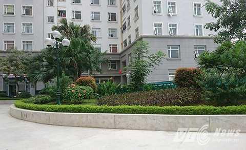 Hiện trường nơi xảy ra vụ việc nằm trong khuôn viên của khu đô thị Cổ Nhuế