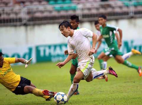 Minh Vương là ngôi sao được chờ đợi nhất bên phía U21 HAGL (Ảnh: Minh Trần)