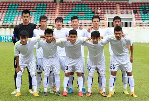Đội hình U21 HAGL dự giải U21 Quốc gia 2015 (Ảnh: Minh Trần)