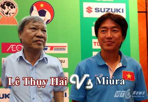 Ông Lê Thụy Hải là người nhiều lần phản biện về HLV Miura (Ảnh: Quang Minh)