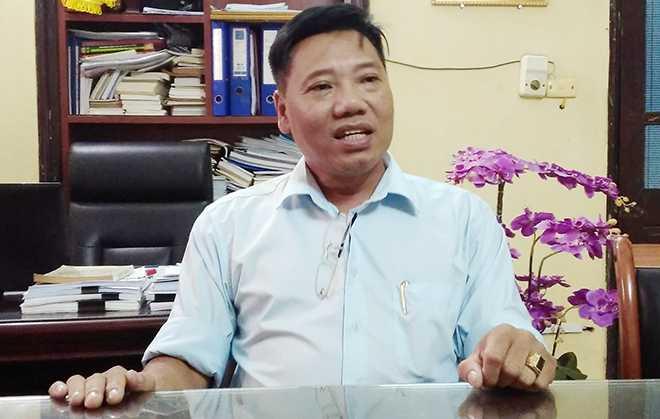 Ông Vũ Đức Khôi, Chủ tịch HĐQT Trường Trung cấp Y Hà Nội khẳng định nhà trường luôn quan tâm, chăm lo đến lợi ích của giáo viên và sự phát triển của trường (Ảnh: Phạm Thịnh)