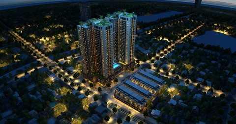 Khi hoàn thành, Goldsilk Complex sẽ là quần thể nổi bật trên đường Vạn Phúc, Hà Đông