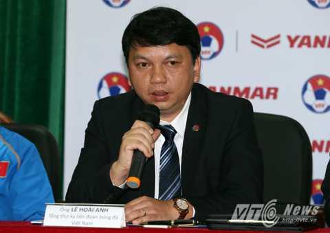 Tổng thư ký VFF Lê Hoài Anh (Ảnh: Quang Minh)