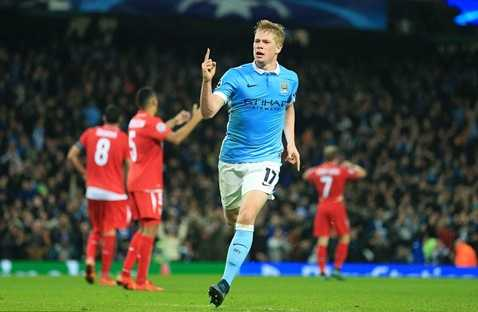 Kevin de Bruyne thể hiện phong độ tuyệt vời trong màu áo Man City