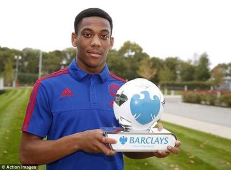 Martial vừa giành danh hiệu cầu thủ xuất sắc nhất tháng 9