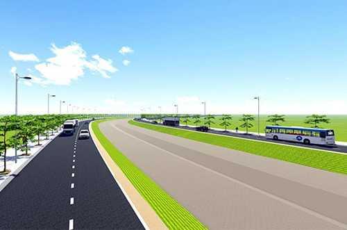 Phối cảnh đường nối từ đại lộ Võ Văn Kiệt đến cao tốc TP HCM - Trung Lương