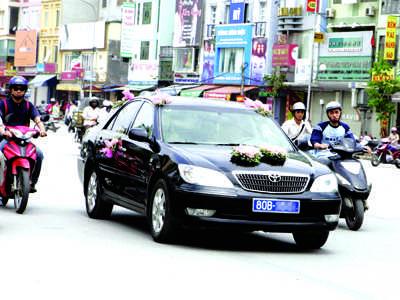 Một trường hợp xe công dùng để đi... rước dâu - Ảnh: Internet
