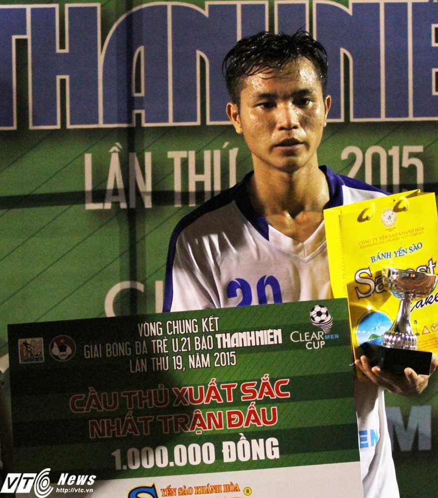 Lập cú đúp, Trần Tấn Tài giành danh hiệu 'Cầu thủ xuất sắc nhất trận'