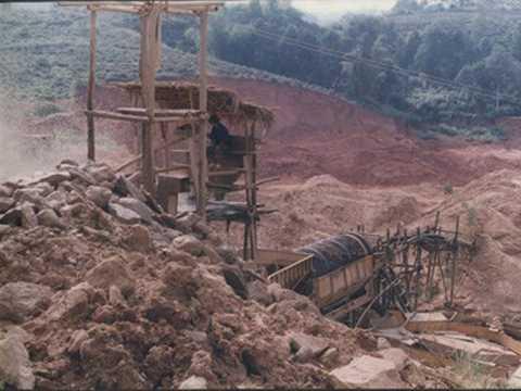 Mỏ Tân Hương, Yên Bái, nơi tìm thấy viên ruby bảo vật quốc gia.