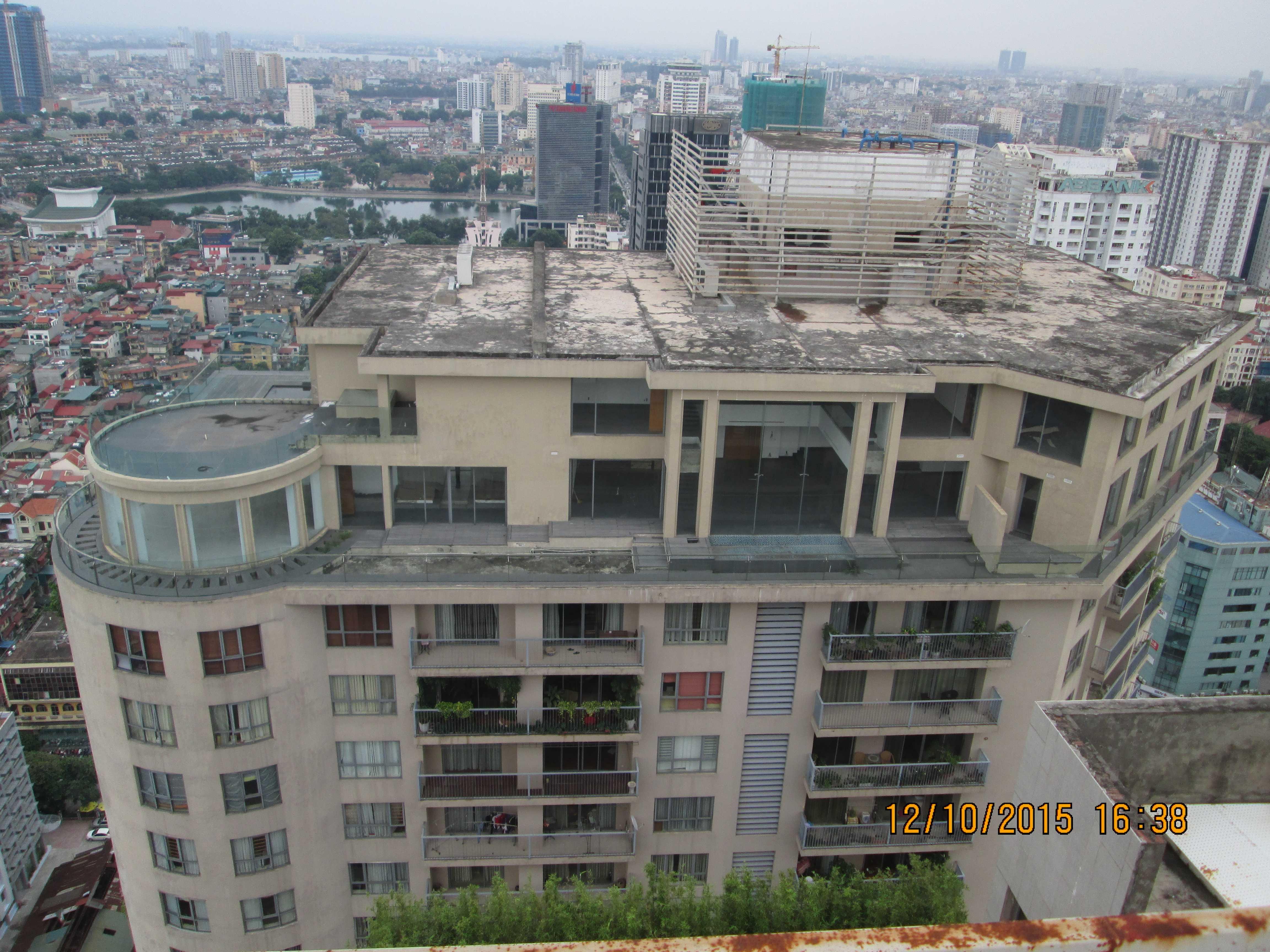 Các căn penhouse xây sai phạm tại toà B dự án Sky City