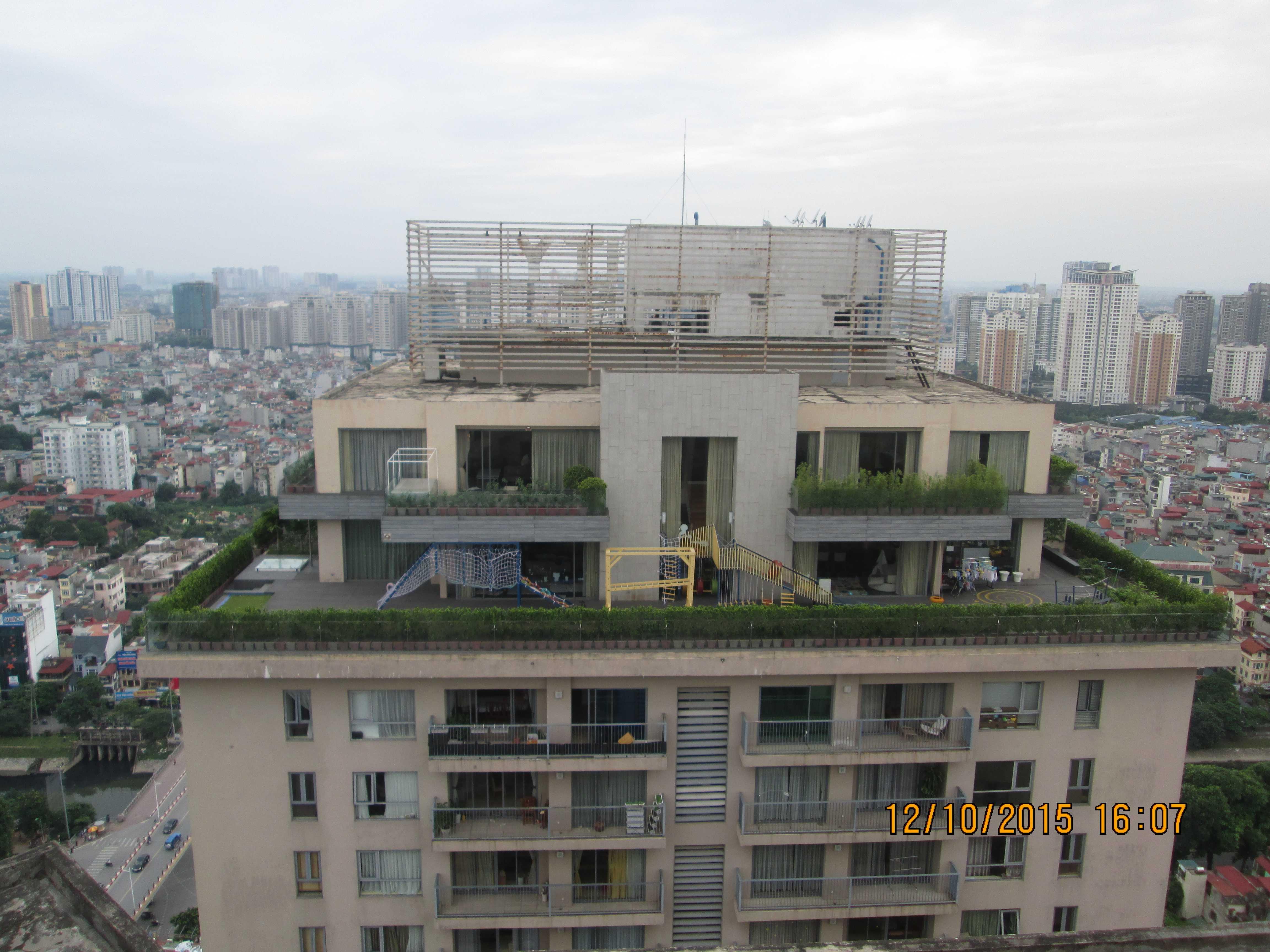 Các căn penhouse xây sai phạm tại toà A dự án Sky City