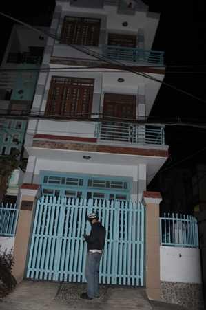 Căn nhà nơi các hung thủ thuê để gây án.