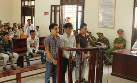 3 bị cáo tại phiên tòa phúc thẩm.