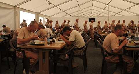 Nhà ăn của binh sĩ Nga ở căn cứ tại Syria