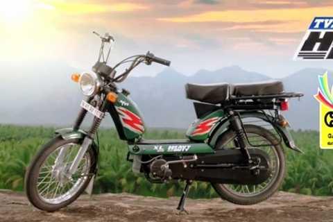 TVS XL100 có kiểu dáng y hệt chếc Babetta, giá rẻ chỉ tương đương 10 triệu đồng