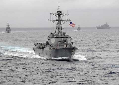 Tàu khu trục tên lửa USS Lassen của Mỹ tiến vào khu vực 12 hải lý mà Trung Quốc đơn phương tuyên bố chủ quyền - Ảnh: Hải quân Mỹ