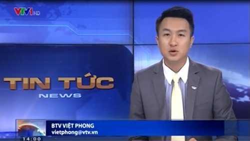 BTV Việt Phong đang được chú ý với giọng miền Nam đặc trưng dẫn thời sự VTV.