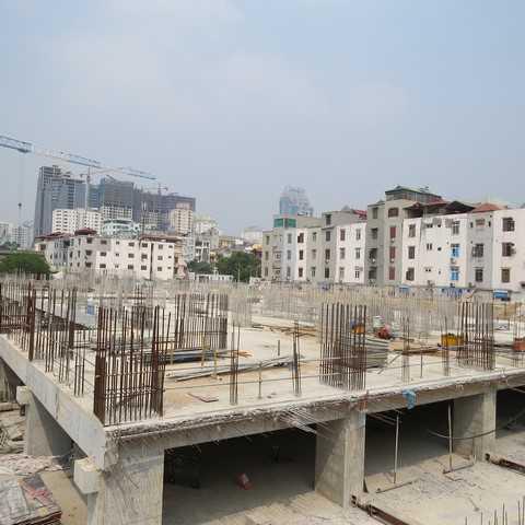 Sàn tầng 1 tòa 29T và 35T được hoàn thiện sớm hơn kế hoạch dự kiến 1 tháng