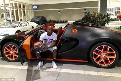 Hình ảnh siêu xe Bugatti Veyron mà Mayweather mới mua