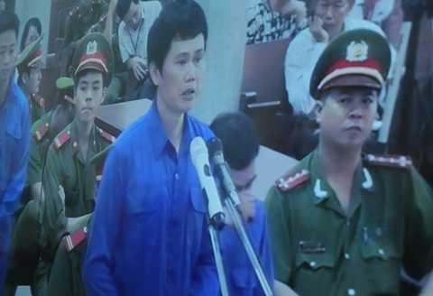 Bị cáo Phạm Hải Bằng tại phiên tòa hôm nay (27/10)
