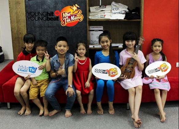 Các thí sinh tại ngôi nhà chung của Young Hit Young Beat Nhí Tài Năng