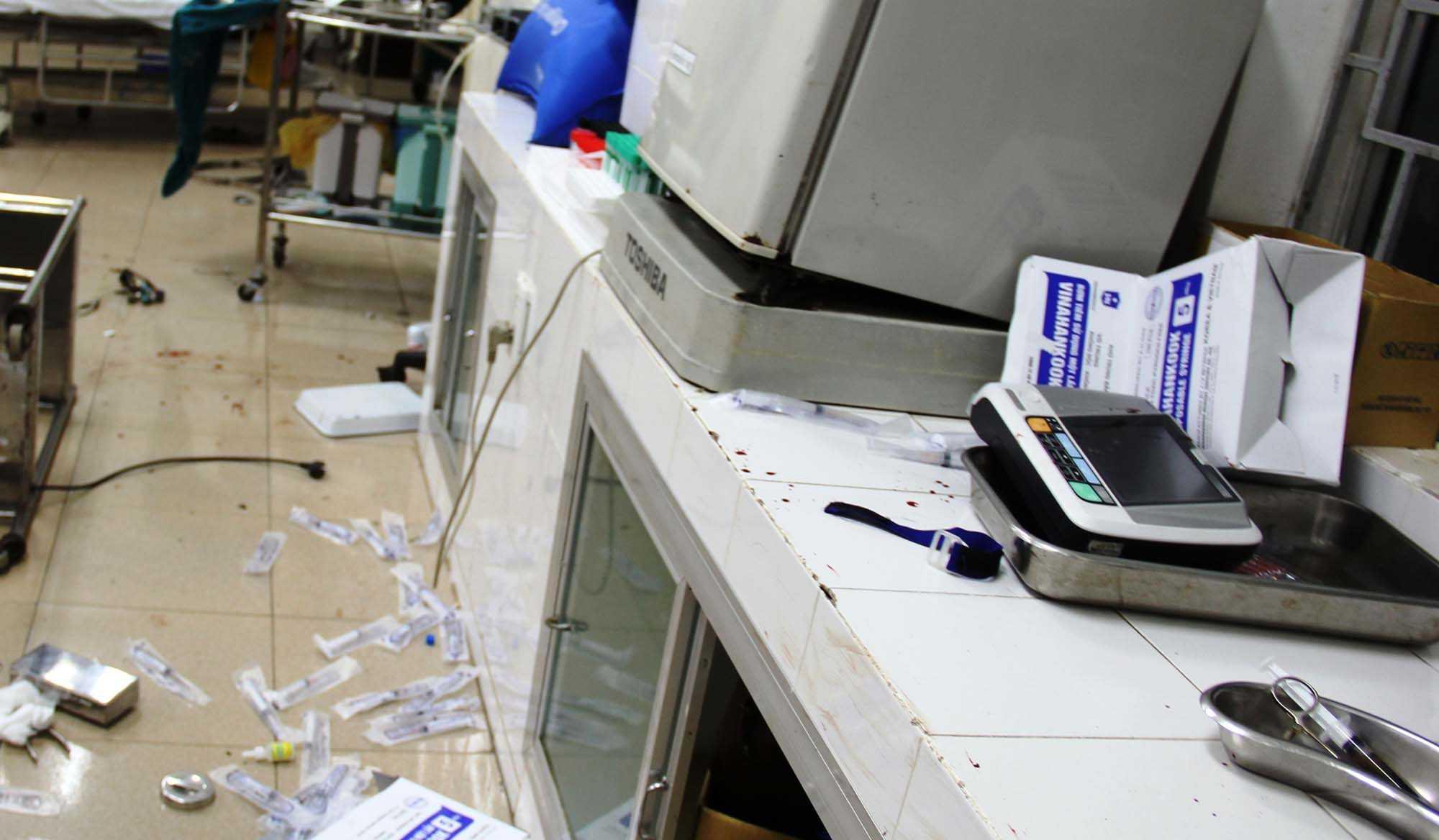 Một số thiết bị y tế bị hư hỏng