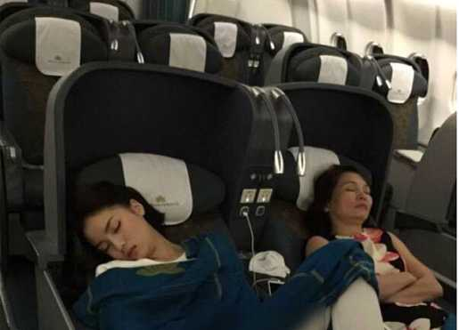 Kỳ Duyên kém duyên trên máy bay