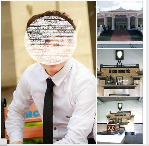 Hình ảnh nạn nhân, tang lễ liên tục được cập nhật đưa lên facebook của anh Quang