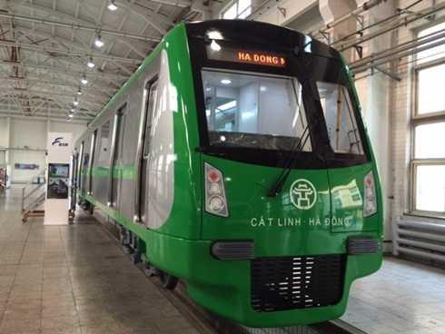 Tàu mẫu tuyến đường sắt đô thị Cát Linh - Hà Đông
