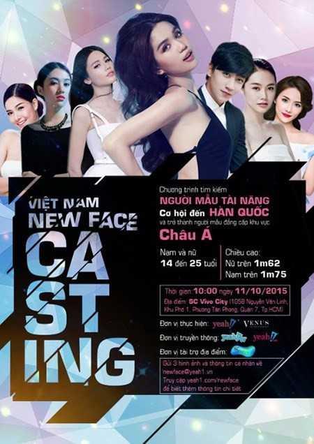 Hình ảnh cuộc thi Tìm kiếm người mẫu châu Á được quảng bá trên mạng xã hội. Ảnh: HB