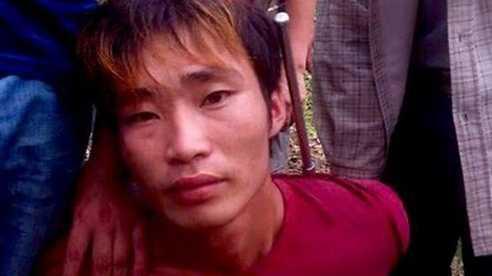 Bị cáo Đặng Văn Hùng khi bị bắt.