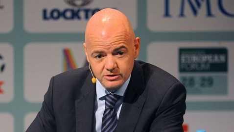 Tổng thư ký UEFA Gianni Infantino thay Platini là đại diện của cả châu Âu