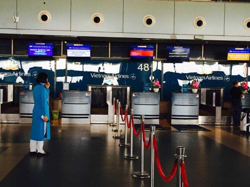 Việc yêu cầu các hãng hàng không nội địa phối hợp sử dụng chung quầy check-in tại các cảng hàng không nhằm nhằm tận dụng tối đa và linh hoạt cơ sở vật chất phục vụ hành khách (Ảnh: Bảo Bình)