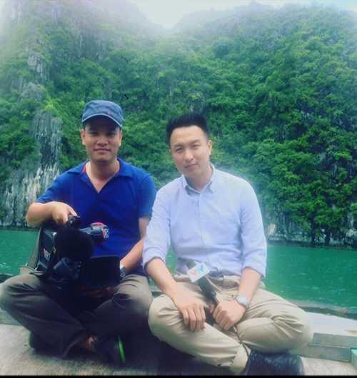 Việt Phong đang là BTV rất được chú ý ở VTV bởi chất giọng miền Nam