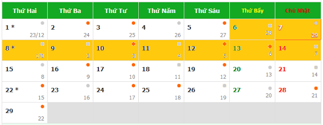 Lịch nghỉ Tết Bính Thân 2016 là 9 ngày