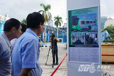 Đoàn tàu mẫu tuyến đường sắt đô thị Cát Linh – Hà Đông sẽ được trưng bày tại vị trí sân trước nhà A1, khu vực cạnh đài phun nước - Trung tâm triển lãm Giảng Võ từ ngày 29/10 tới 31/11/2015.