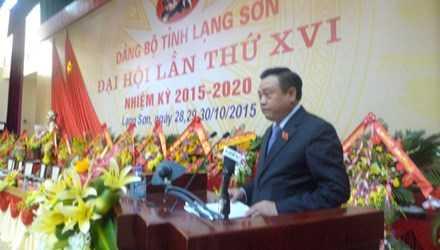 Ông Trần Sỹ Thanh, tân bí thư tỉnh uỷ Lạng Sơn