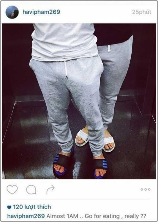 Những hình ảnh trùng hợp bất ngờ trên Instagram của Cường Đô la và Hạ Vi
