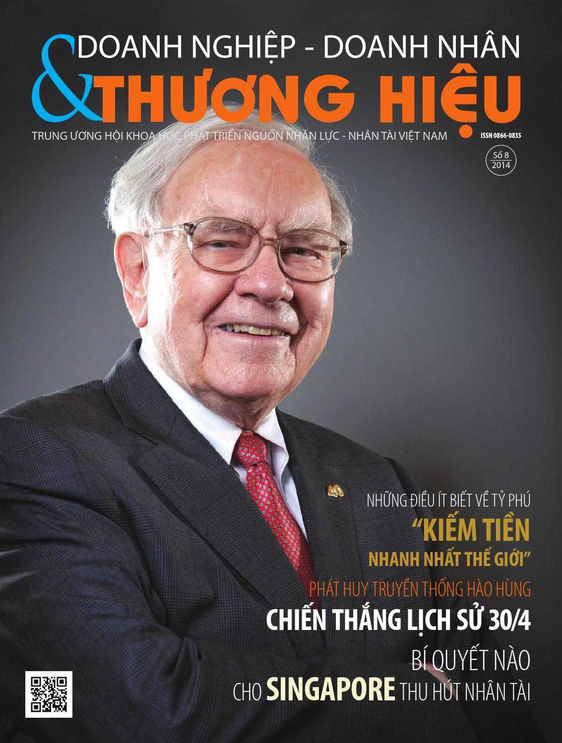 Một trang bìa Tạp chí Doanh nghiệp Doanh nhân và Thương hiệu