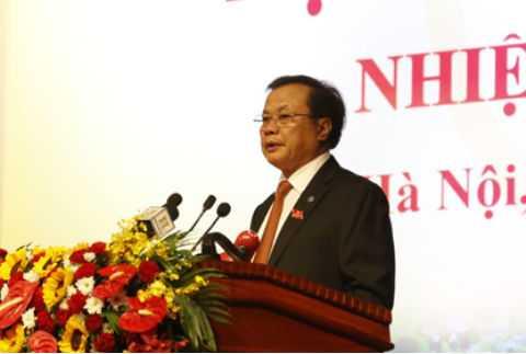 Bí thư Phạm Quang Nghị phát biểu tại buổi làm việc.