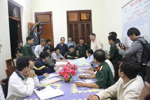 Lực Lượng chức năng họp bàn công tác phòng chống cứu nạn