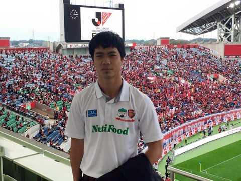 Công Phượng tới dự khán trận chung kết Cup Quốc gia Nhật Bản giữa Kashima Antlers và Gamba Osaka