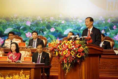 Ông Trần Trọng Dực phát biểu tại Đại hội.