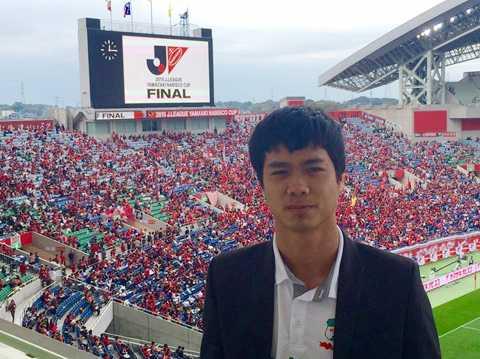 Công Phượng tới dự khán trận chung kết Quốc quốc gia Nhật Bản 2015