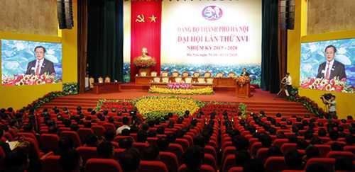 Đại hội đại biểu Đảng bộ TP Hà Nội khóa XVI nhiệm kỳ 2015 - 2020 khai mạc trọng thể tại Cung Văn hóa lao động hữu nghị Việt - Xô