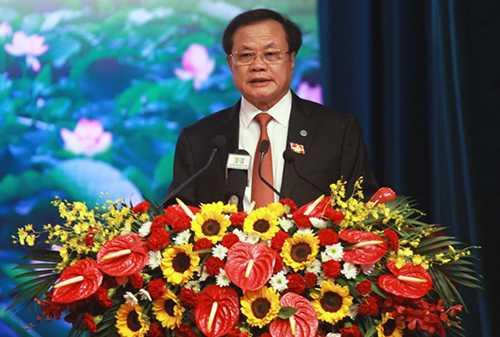 Ông Phạm Quang Nghị, Ủy viên Bộ Chính trị, Bí thư Thành ủy phát biểu khai mạc phiên trù bị